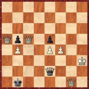 Schlussstellung nach 86. Dg3-g1+