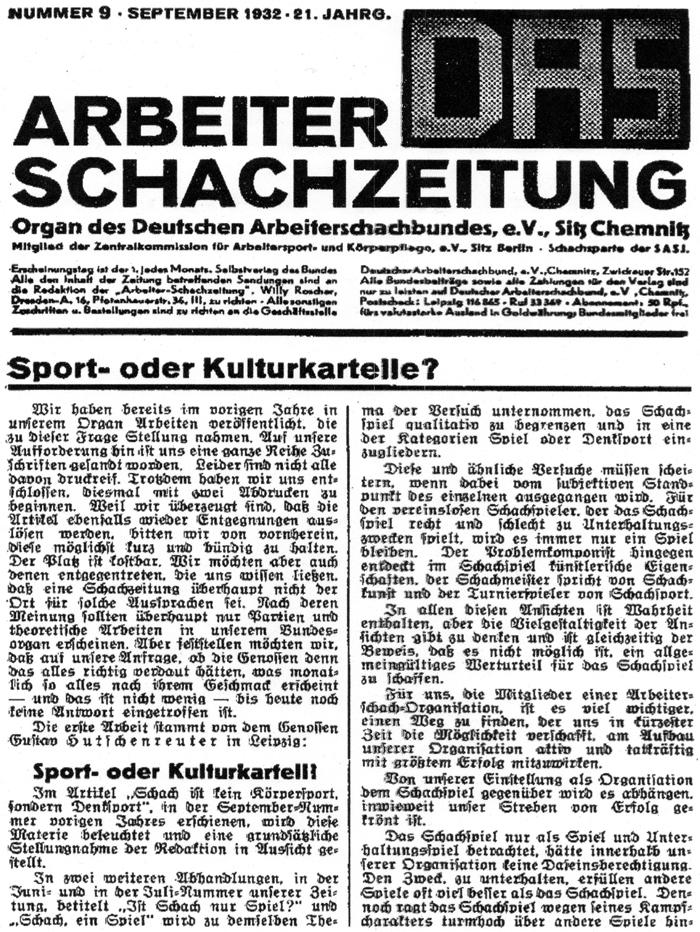DAS Nr. 9 September 1932 Deckblatt