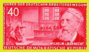 Wilhelm Liebknecht Briefmarke aus 1955