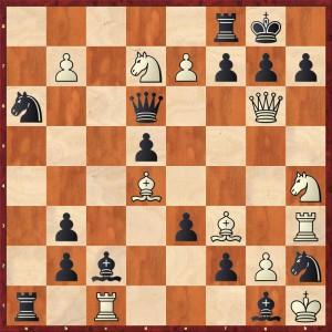 Der Lattenkracher / Stellung nach 1.Dg6!!