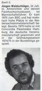 Jürgen Waldschläger anno 1983