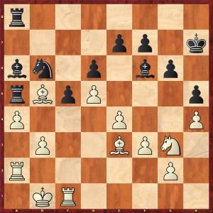 Stellung nach 25... Lb7-a6