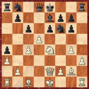 Stellung nach 15.d4-d5