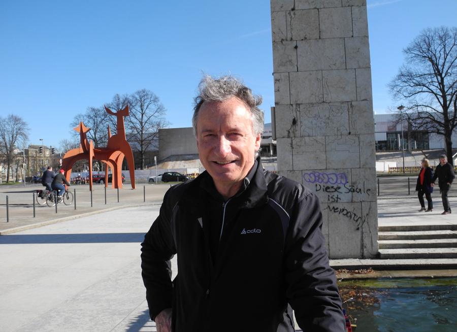 8. März 2015, 10:45 Uhr am Nordufer des Maschsees: Arthur Kölle gönnt sich eine Pause