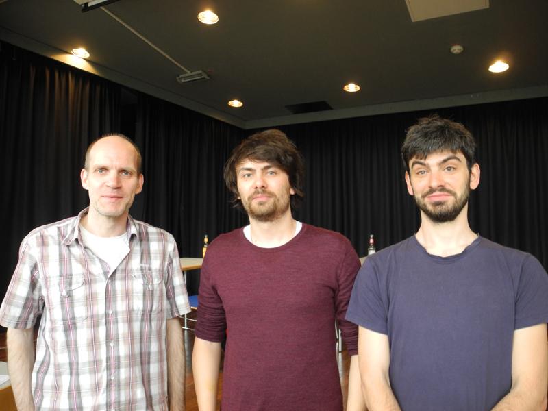 Die Sieger von links nach rechts: Carsten Lingnau (3.) Dennes Abel (1.) Ilja Schneider (2.)