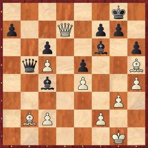Weiß am Zug. Stellung nach 32...e6-e5