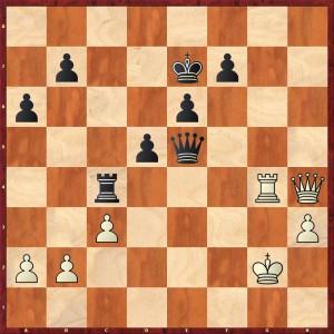 Schwarz am Zug. Stellung nach 36.Df2-h4+