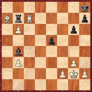 1:0 nach 33. Tc6-c7