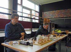 Friedmar Schirm (Brett 1) und Dennie Ackermann (Brett 2)